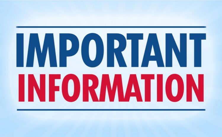IMPORTANT INFORMATION TO STUDENTS/PARENTS ON EXEAT AND COVID – 19 TEST