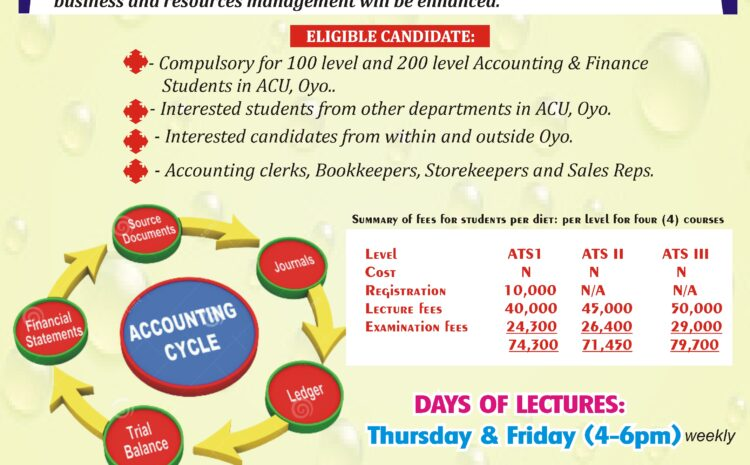 AJAYI CROWTHER UNIVERSITY'S ICAN/ATSWA LECTURES